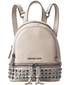 c25cd9fada2b75 MICHAEL Michael Kors Rhea Zip Mini Pyramid Stud Messenger Backpack &  Reviews - Handbags & Accessories - Macy's