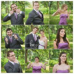 fun wedding picture - Brady Bunch Style
