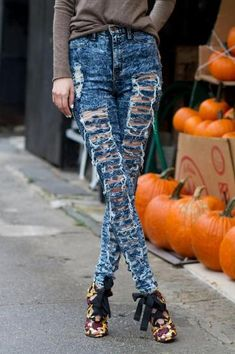 Balmain jeans, Silver shoes and In the hole on Pinterest