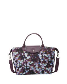 Longchamp Le Pliage Neo Vibration Medium Top-Handle Bag with Strap 889a334ace0ce