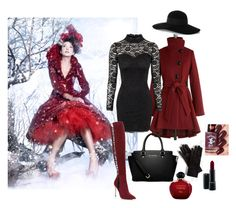 """Winter"" by lella-336 ❤ liked on Polyvore featuring Steve Madden, MICHAEL Michael Kors, Sergio Rossi, Eugenia Kim, MAC Cosmetics and Christian Dior"