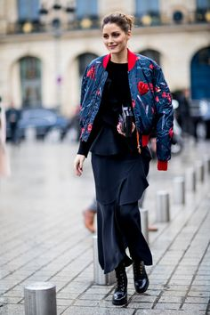 df87493521f82 Best Street Style Looks of Paris Couture Spring 2018. Olivia Palermo ...