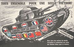 """Post with 2888 views. """"All together, for a single victory"""" D-Day landings propaganda [French, WWII] Battle Of Normandy, Normandy Invasion, Battle Of The Somme, D Day Date, French Armed Forces, D Day Landings, World War One, Military History, Wwii"""