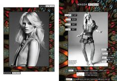 Magda Roman AW15 show card. #London #AW15 #LondonFashionWeek #LFW #models #girls #runway #nevsshows #nevswomen