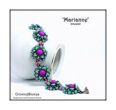 Bead pattern DIY bracelet Marianne with MiniDuo by CrownofStones