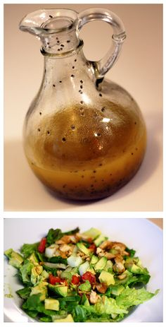 Lemon Poppy Seed Vinaigrette Salad Dressing 5 Ingredient salad dressing, healthier than store bought. Uses things you probably already have in your kitchen.  Marie's Cooking Adventures.