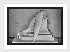 Weeping Angel Framed Print featuring the photograph Weeping Angel by Ellis C Baldwin