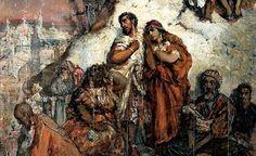 """Maurycy Gottlieb, """"Wygnanie Maurów z Granady"""", 1877 r., Muzeum Pałacu Herbsta w Łodzi"""
