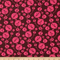 Amy Butler True Colors Cotton Blossom Fig from @fabricdotcom  Designed by Amy Butler for Westminster/Rowan, this cotton print is perfect for quilting, apparel and home decor accents.  Colors include hot pink and maroon.