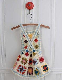 Granny Square Jumper Crochet Pattern ༺✿ƬⱤღ http://www.pinterest.com/teretegui/✿༻