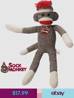 091d6cfdc9d Schylling Stuffed Animals  amp  Plush Toys  ebay  Toys  amp  Hobbies Sock  Monkey