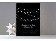 These Midnight Vineyard invites are simple and chic.