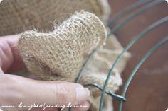 How To Make A Burlap Wreath | Diy Burlap Wreath Tutorial