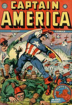 Captain America Comics # 22 by Syd Shores
