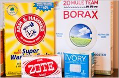 1 Bar (14 oz) Zote Soap/Ivory Soap 2 C Arm & Hammer Super Washing Soda 2 C Borax Blender/Food Processor Powder makes 48 loads. Plain ZEST will not leave resdue like other soap.