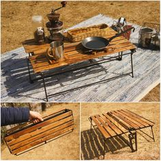 16 Amazing Camping Table Sink Camping Tables That Fold Up Small Vw Camping, Camping Table, Camping Life, Family Camping, Camping Hacks, Outdoor Camping, Glamping, Camping Stuff, Campaign Furniture