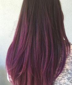 Hair Color Auburn, Hair Dye Colors, Hair Streaks, Hair Highlights, Hair Color And Cut, Cool Hair Color, Hair Dye Tips, Ombré Hair, Purple Hair