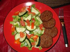 Morning star sausages with salad.  Believing it\'s Possible is half the battle / Take Shape For Life Weight Loss & Maintenance: HEART ATTACK Scare!!