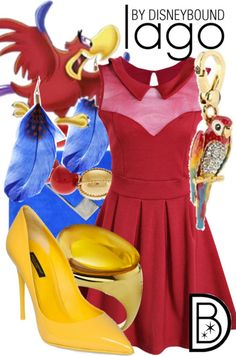 Look great in this Iago outfit  | Disney Fashion | Disney Fashion Outfits | Disney Outfits | Disney Outfits Ideas | Disneybound Outfits | Aladdin Outfit |