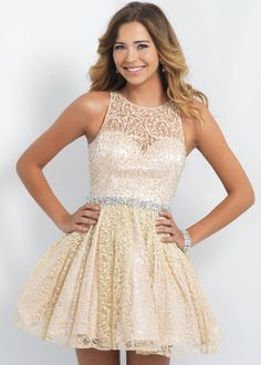 Sexy Champagne Lace Short Prom Dress Homecoming Party Dress Cocktail Ball Gowns