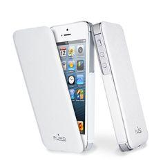 Puro Flipper Ultra Slim Cover for  iPhone 5  puroitalianstyle White  Elegance f004c73c13815