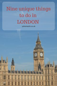 Nine unique things you must do in London  #RePin by AT Social Media Marketing - Pinterest Marketing Specialists ATSocialMedia.co.uk