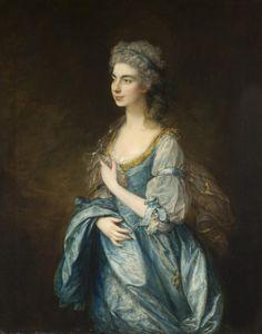 """Portrait of Lady Rodney [née Anne Harley],"" c. 1781, by Thomas Gainsborough"