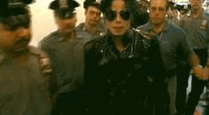 michael-and-all-that-is-lovely:  I believe this is coming into the MTV Video Music Awards 1995 where he performed.He looks pretty bad-ass.