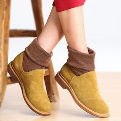 women Handmade leather winter shoes Boots from GYFashionClothing by DaWanda.com