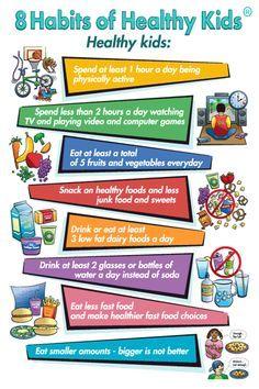 Habits Of Healthy Kids - The Healthy Children Healthy Futures - angewohnheiten gesunder kinder - die gesunden kinder gesunde zukunft - - Tracker healthy habits; For Moms healthy habits; Tips healthy habits Healthy Habits For Kids, Healthy Eating For Kids, Healthy Living Tips, Healthy Children, Children Food, Stay Healthy, Healthy Weight, Happy Healthy, Healthy Choices