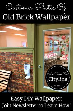 Watch this Old Brick Wallpaper on Cityline with Colin and Justin and then see it on real customer's walls! Faux Brick Wallpaper, Diy Wallpaper, Indoor Play Centre, Orange Brick, Old Bricks, Easy Diy, How To Remove, Walls, Diy Crafts