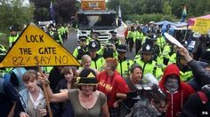 02/08/13 - Balcombe oil drilling starts after fracking protests