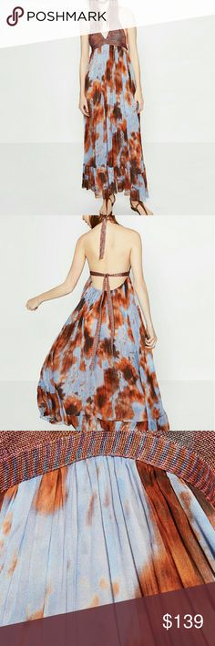 Zara Tie Dye Maxi Dress October 2017
