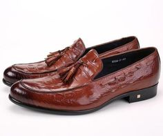 95925072e94b Crocodile Men s Shoes Genuine Leather Loafer Shoes With Tassel-Shoes-Mens  Shoes-Online