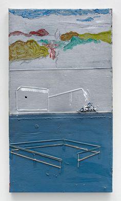 Merlin James - Acrylic and mixed media on canvas