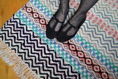 patterned rag rug