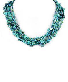 turquoise Beaded Multi-Strand Necklace
