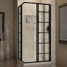 DreamLine French Corner 34-1/2 in. x 34-1/2 in. x 72 in. Framed Sliding Shower…