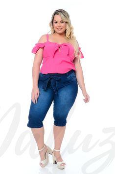 Moda Feminina Plus Size, Ideias Fashion, Bermuda Shorts, Capri Pants, Women, Women's, Vestidos, Capri Trousers, Shorts