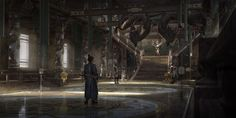 ArtStation - Loong palace, SiChen Wang Environment Concept Art, Environment Design, Conceptual Design, Fantasy Characters, Samurai, Egypt, Palace, Architecture Design, Scenery