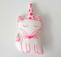 Fox neon pink by mikodesign on Etsy, €9.00