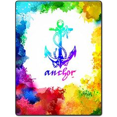 Blanket Comfort Warmth Soft Plush Easy Care Machine Wash Colorful design of the anchor Sofa Bed Throw Kid Adult Warm Blanket Throw Pillow Covers, Throw Pillows, Anchor Art, Sofa Bed Throws, Warm Blankets, Home Gadgets, Decorative Pillow Cases, Home Textile, Arts And Crafts