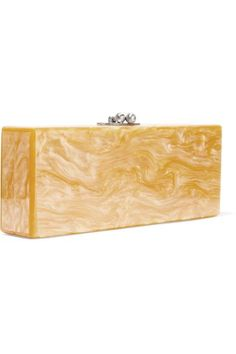 Edie Parker - Flavia Dirty Acrylic Box Clutch - Yellow - one size