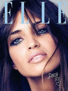 Sara´s cover for Elle December with Swarosky crystals make up