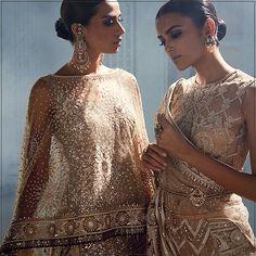 #sheer #womenwear #shimmer #sequins #mirrors #jaalis #indian #modern #taruntahiliani