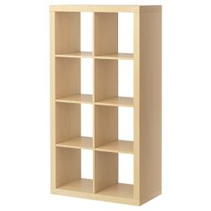 """EXPEDIT Shelving unit - birch effect -Product dimensions Width: 31 1/8 """" Depth: 15 3/8 """" Height: 58 5/8 """" Max load/shelf: 29 lb"""