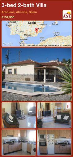 3-bed 2-bath Villa in Arboleas, Almeria, Spain ►€134,950 #PropertyForSaleInSpain