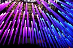 LED - light exhibition design by Virginia De Siro Lighting Design, Lamp Design, Led Light Installation, Led Lighting Home, All Of The Lights, Light Pollution, Xmas Lights, Light Works, Light Project