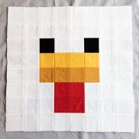 Minecraft Quilt Block Chicken