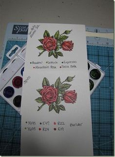 Comparing Tim Holtz Alcohol inks to Copic using the TH Pallet